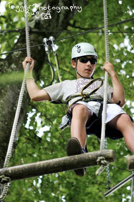 Swinging through the assault course