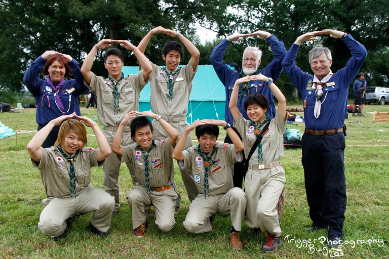 Japanese interns for the World Scout Jamboree in Japane, visiting Ireland during the Phoenix Competition