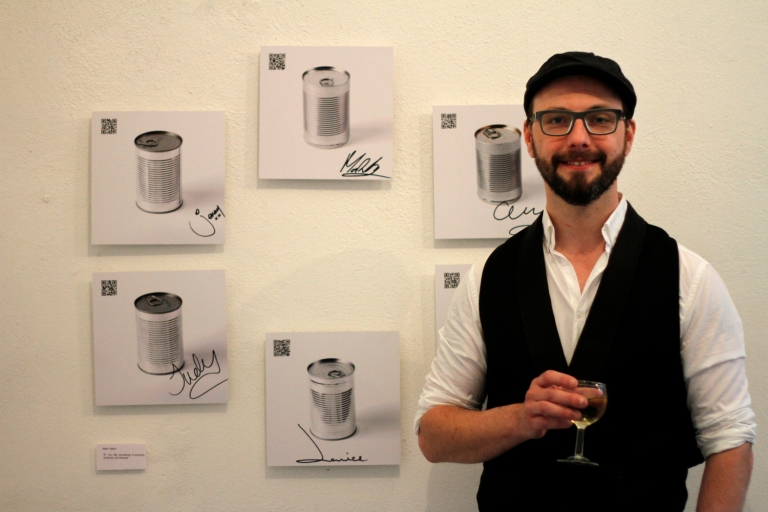 Mark with his work