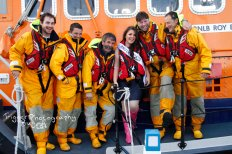RNLI crew and Dublin Rose hopeful
