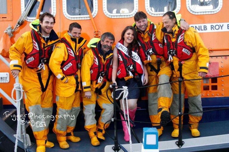 RNLI crew and Dublin Rose hopeful