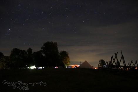 Starry night over Zellhof, Austria