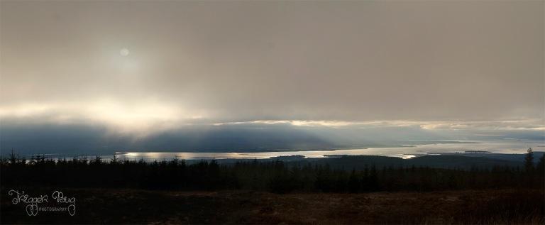 Sunset view panorama